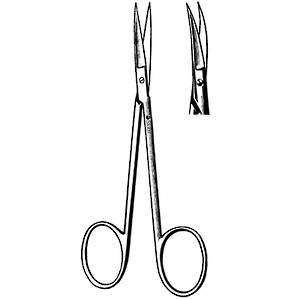 SKLAR Iris Scissors Curved 11.5cm